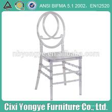 Cristal claro apilamiento resina phoenix silla