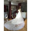 Vestidos de novia nupciales del hombro del vestido de boda de Tulle del pavo real del vestido de boda de los tulipanes del pavo de Ivory Tulle