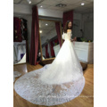 Off épaule robes de mariée de mariée Ivoire Tulle robes pakistanaises dentelle ourlet demi-manches robe de mariée