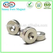 D25mm countersunk pot magnets with thread stem