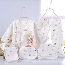 Новорожденный мультфильм печати 5PCS младенческой одежды