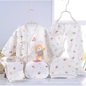 Ropa infantil recién nacida de la impresión 5PCS de la historieta del bebé