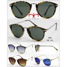 2016 Gafas de sol vendedoras calientes de la protección UV400 con el templo del metal (WSP601536)