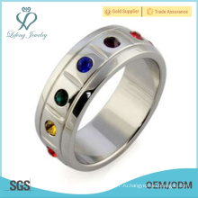 Кольца для ювелирных изделий с гордостью из нержавеющей стали, бисексуальные украшения для гордости