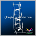 high quality wire metal floor standing book display shelf with price holder