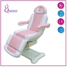 Elektrisches Massagebett rosa und weiß