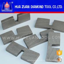 Hohe Leistungsfähigkeits-einzigartige U-Art Steinsägeblatt-Segment-Steinausschnitt-Segment-Granit-Diamant-Segment