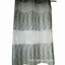 Embroidered curtain fabrics, width 300cm, embroidery height 260cm, ground fabric organza