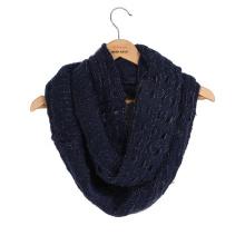 Winter Warm Heavy Lurex Metallic Yarn Knitted Loop Snood (SK180)