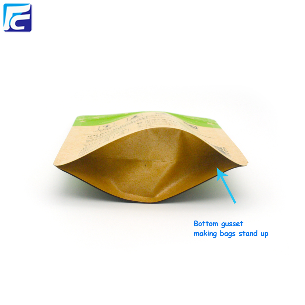 Zipper Lock Kraft Paper Bag
