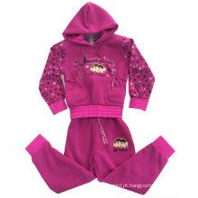 Hoodies da camisola do algodão da forma do lazer na roupa das crianças para ternos Swg-107 do esporte