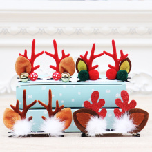 Holiday Party Christmas Decoration Sale Children Christmas Antlers Reindeer Hair Clip