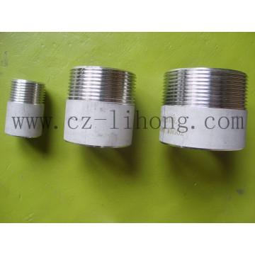 """1/8 """"Edelstahl 316L DIN2999 Schweißnippel aus Rohr"""