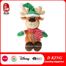Hot Sale Christmas Deer Gifts Plush Stuffed and Soft Toys