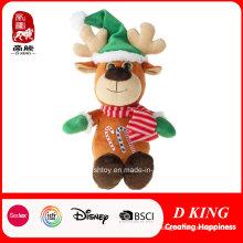Presentes quentes dos cervos do Natal da venda Brinquedos enchidos e macios do luxuoso