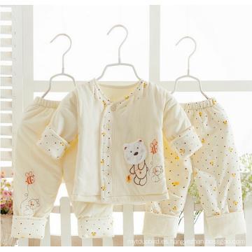 Traje recién nacido 100% del invierno del bebé del algodón 3PCS