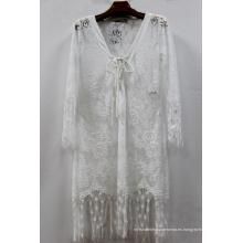 Venta caliente cubierta de verano de estilo de algodón ligero Coverup