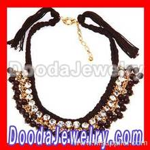 Fashion Ladies Costume Jewelry Crystal Beaded String Necklace Wholesale