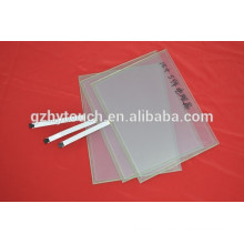 thin glass 15 inch 5 wire resist touch screen for ATM / POS