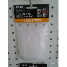 White Nylon Cable Tie 100 Pieces Per Bag with Head Card