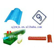 QJ más popular 312 Ridge Cap techo rollo que forma la máquina de China