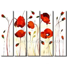 Handmade Wall Decor Art Flower Oil Painting on Canvas