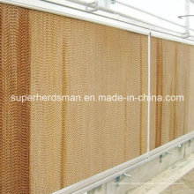 Sistema de almohadillas de enfriamiento de la granja de aves de corral