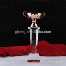 Hot selling cheap custom crystal award trophy