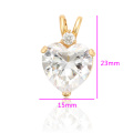 34224 Xuping gold fashion design copper jewelry heart shaped design gemstone pendant for women