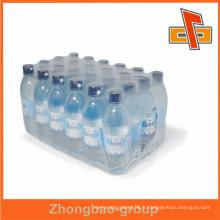 Film d'emballage PE transparent à rétrécissement élevé pour bouteilles d'eau avec design gratuit