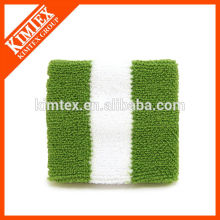 Terry cotton cheap custom sport flag wrist sweatband