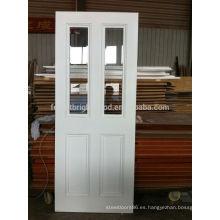 Puerta de madera interna de vidrio biselado clara clara estilo victoriano blanco 2