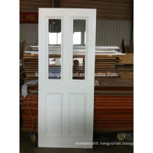 White Primed Victorian Style 2 Light Clear Bevelled Glass Internal Wood Door