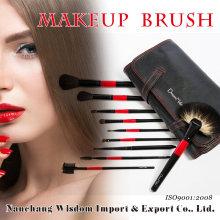 Wisdom 22PCS Cosmetic Brush with Black PU Case