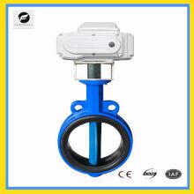 Válvula de borboleta elétrica industrial CTB-010 de ferro fundido UPVC para plantas químicas, fabricação de papel, giratório