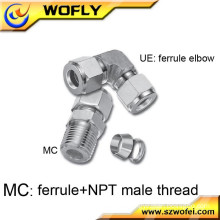 press hydraulic fittings 90 degree square tube elbow