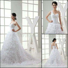 JJ3008 Newest One Shoulder Ball Gown Wedding Dresses