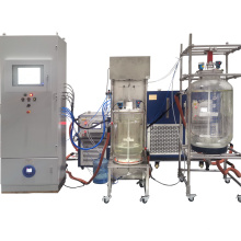 QI YU 50L filter glass reactor with PLC control automation