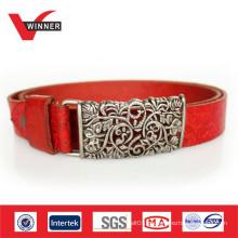 2014 Custom debossed ladies leather belts
