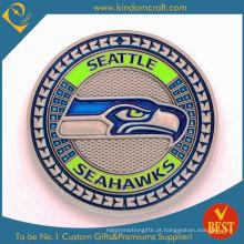 Moeda da lembrança da moeda do metal com logotipo macio do esmalte