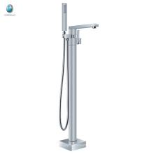 KFT-07 grifo de la bañera de pie de tratamiento de superficie cromado, grifo de la bañera de ducha de pie de pie libre