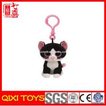 peluche en peluche animal mignon / porte-clés en peluche chat porte-clés jouet