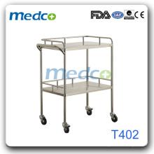 Carro de instrumentos de acero inoxidable para hospitales Tock2