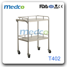Hospital stainless steel instrument trolley Knock down constructure T402