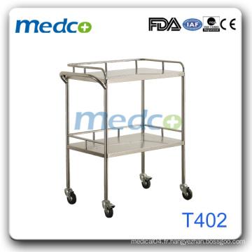 Chariot à instruments en acier inoxydable pour hôpitaux Tomb