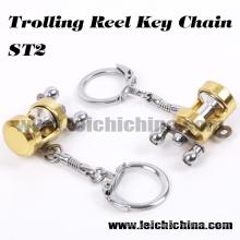 Heißer Verkauf Mini Trolling Angelrolle Schlüsselanhänger
