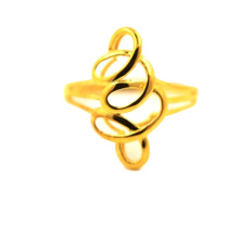 Golden Silk Braid 18 K Gold Ring
