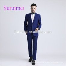 2017 New Arrivals Men Suits Blue Color with Long Sleeves button and Free Shipping Made In China