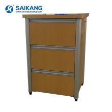 SKS011-1 Cabinets de chevet de stockage en bois de style simple de médecine