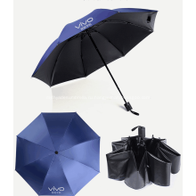 Выдвиженческий складывая зонтик с логотипом